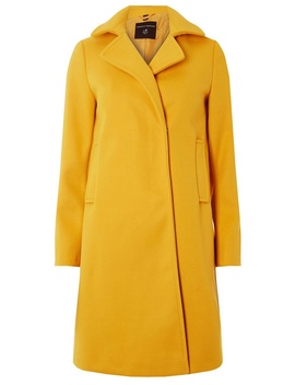 Yellow Popper Swing Coat by Dorothy Perkins