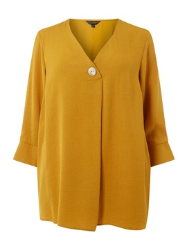 **Dp Curve Yellow Overhead Linen Shirt by Dorothy Perkins