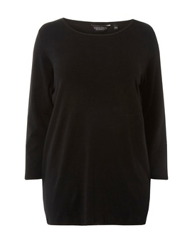 **Dp Curve Black Popper Cuff T Shirt by Dorothy Perkins