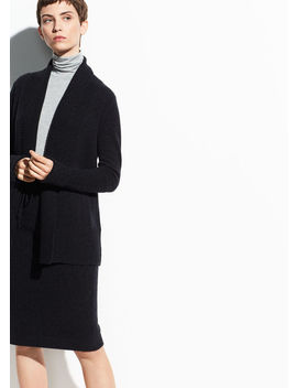 Wool Cashmere Wide Collar Cardigan by Vince