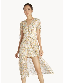 Floral Romper Dress   White by Pomelo