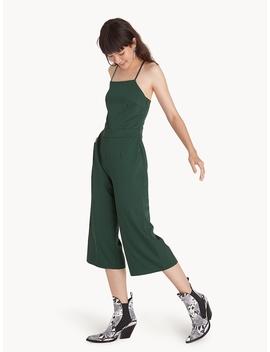 Spaghetti Strap Cross Back Jumpsuit   Green by Pomelo