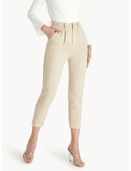 Cropped Light Weight Pants   Beige by Pomelo