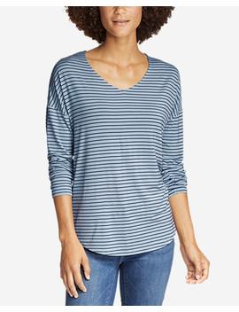 Women's Celestial Long Sleeve V Neck T Shirt by Eddie Bauer