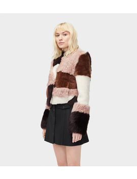 Hal Patchwork Short Fur Jacket by Ugg
