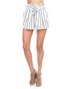 Stripe Mini Shorts by 599 Fashion