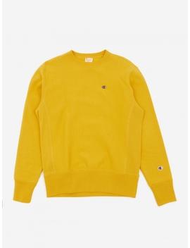 reverse-weave-crewneck-sweatshirt---sunflower by champion