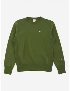 Reverse Weave Crewneck Sweatshirt   Khaki by Champion