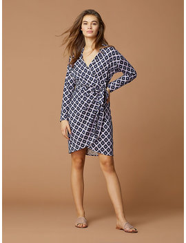 Banded&Nbsp;Collared Wrap Dress by Dvf
