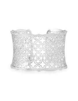 Candice Silver Cuff Bracelet In Silver Filigree Mix by Kendra Scott