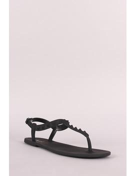 Jelly Studded T Strap Flat Sandal by Urbanog