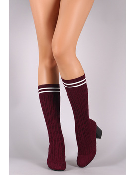 women-knitted-sweater-mid-calf-block-heel-stocking-boot by urbanog