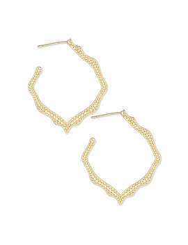 Miku Hoop Earrings In Gold by Kendra Scott