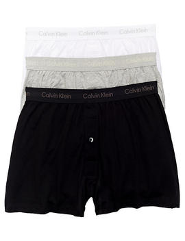 Cotton Knit Boxer 3 Pack by Calvin Klein