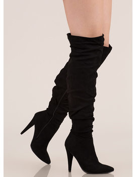 Style Points Slouchy Thigh High Boots by Go Jane