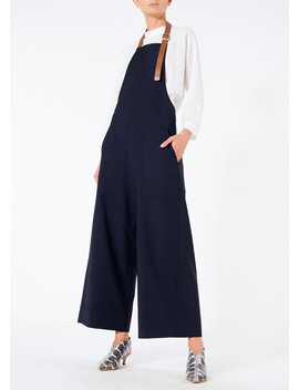 Tablier Plainweave Apron Overall Pants by Tibi