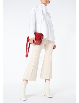 Bond Stretch Knit Jane Cropped Bootcut Pants by Tibi