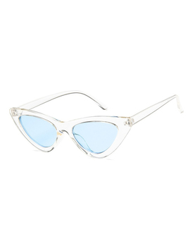 White Cat Eye Frame Sunglasses by Choies