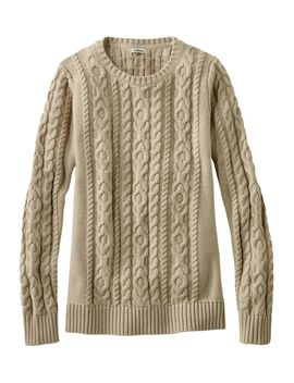 Double L® Mixed Cable Sweater, Crewneck by L.L.Bean