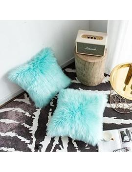 Foindtower Set Of 2 Mongolian Faux Fur Square Decorative Throw Pillow Case Cushion Cover New Luxury Series Merino Style For Livi Foindtower Set Of 2 Mongolian Faux Fur Square Decorative Throw Pillow Case Cushion Cover New Luxury Series Merino Style For ... by Foindtower