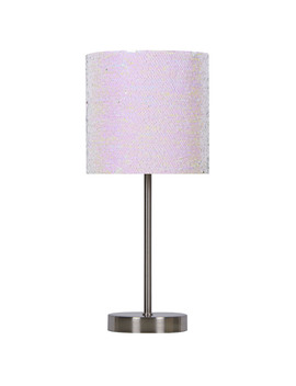 "Essential Home 17"" H X 7"" W Stick Lamp – Brushed Sequins Essential Home 17"" H X 7"" W Stick Lamp – Brushed Sequins by Kmart"