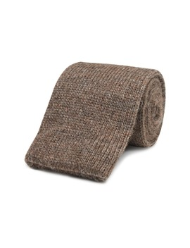 Brown Knitted Tie by Suitsupply