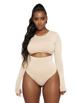 Just Cut It Out Bodysuit by Naked Wardrobe