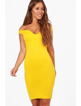 Petite Off The Shoulder Dress by Boohoo