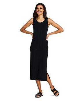 Women's Matte Jersey Midi Skirt by Lands' End