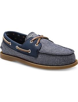 Big Kid's Authentic Original Chambray Boat Shoe by Sperry