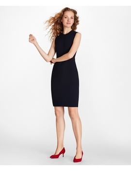 Pointelle Knit Sheath Dress by Brooks Brothers