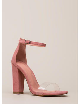 Clear My Head Chunky Ankle Strap Heels by Go Jane
