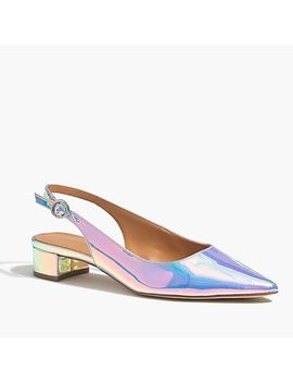 Holographic Slingback Block Heels by J.Crew