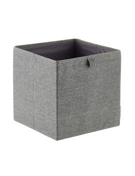 Bigso Grey Fabric Storage Cube by Container Store