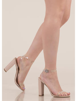 Cool Touch Pvc Strap Chunky Heels by Go Jane