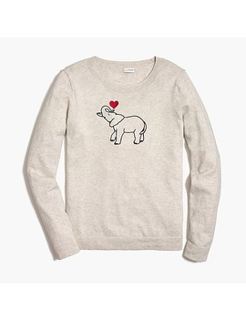 Elephant Teddie Sweater by J.Crew