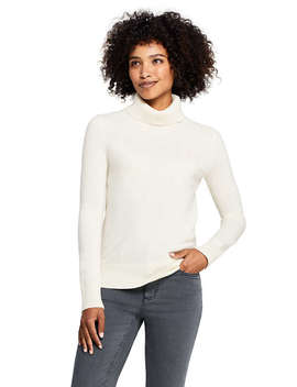 Women's Petite Cashmere Turtleneck Sweater by Lands' End