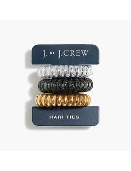 Three Pack Spiral Hair Ties by J.Crew