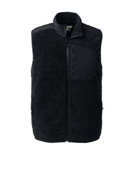 Men's Sherpa Fleece Hybrid Vest by Lands' End