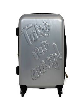 "Take Me Away 29"" Hardside Checked Spinner Luggage by Mac Beth"