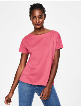 Supersoft Slash Neck Tee by Boden