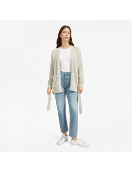 The Soft Cotton Wrap Cardigan by Everlane