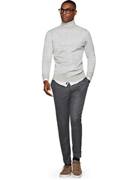 Light Grey Turtleneck Jort by Suitsupply