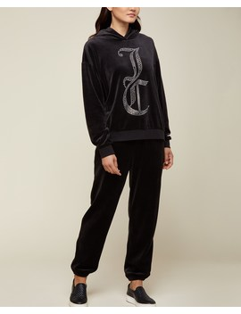 Swarovski Jc Velour Hooded Pullover by Juicy Couture