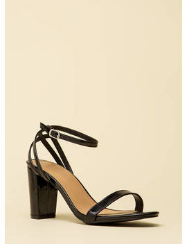 Sexy And Strappy Faux Patent Heels by Go Jane