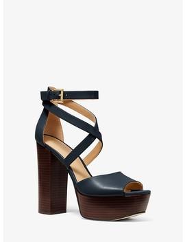 Burke Leather Platform Sandal by Michael Michael Kors