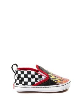 Crib Vans Slip On Race Flame Skate Shoe by Vans