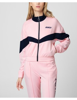 Tricot Zip Up Track Jacket by Juicy Couture