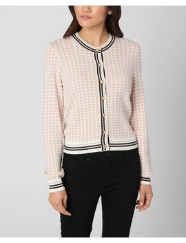 Diamond Jacquard Cardigan Sweater by Juicy Couture