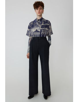 Textured Trousers Midnight Blue by Acne Studios